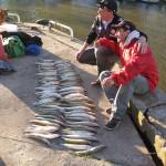 Pescadores en Club Náutico Quilmes