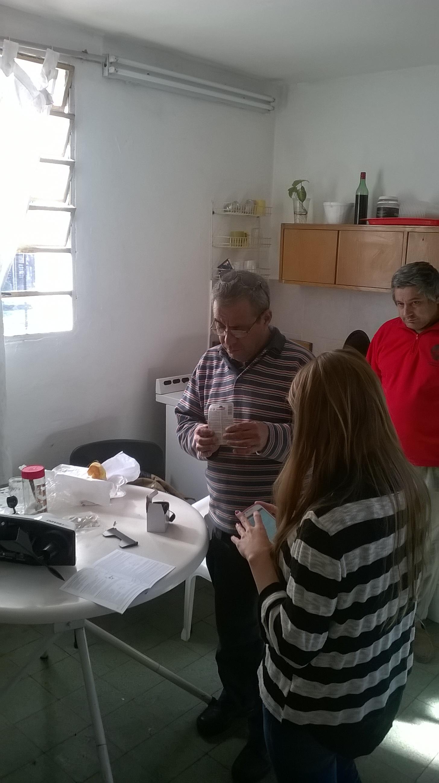 Preparativos para instalación de Estación Automática en Defensa Civil Quilmes