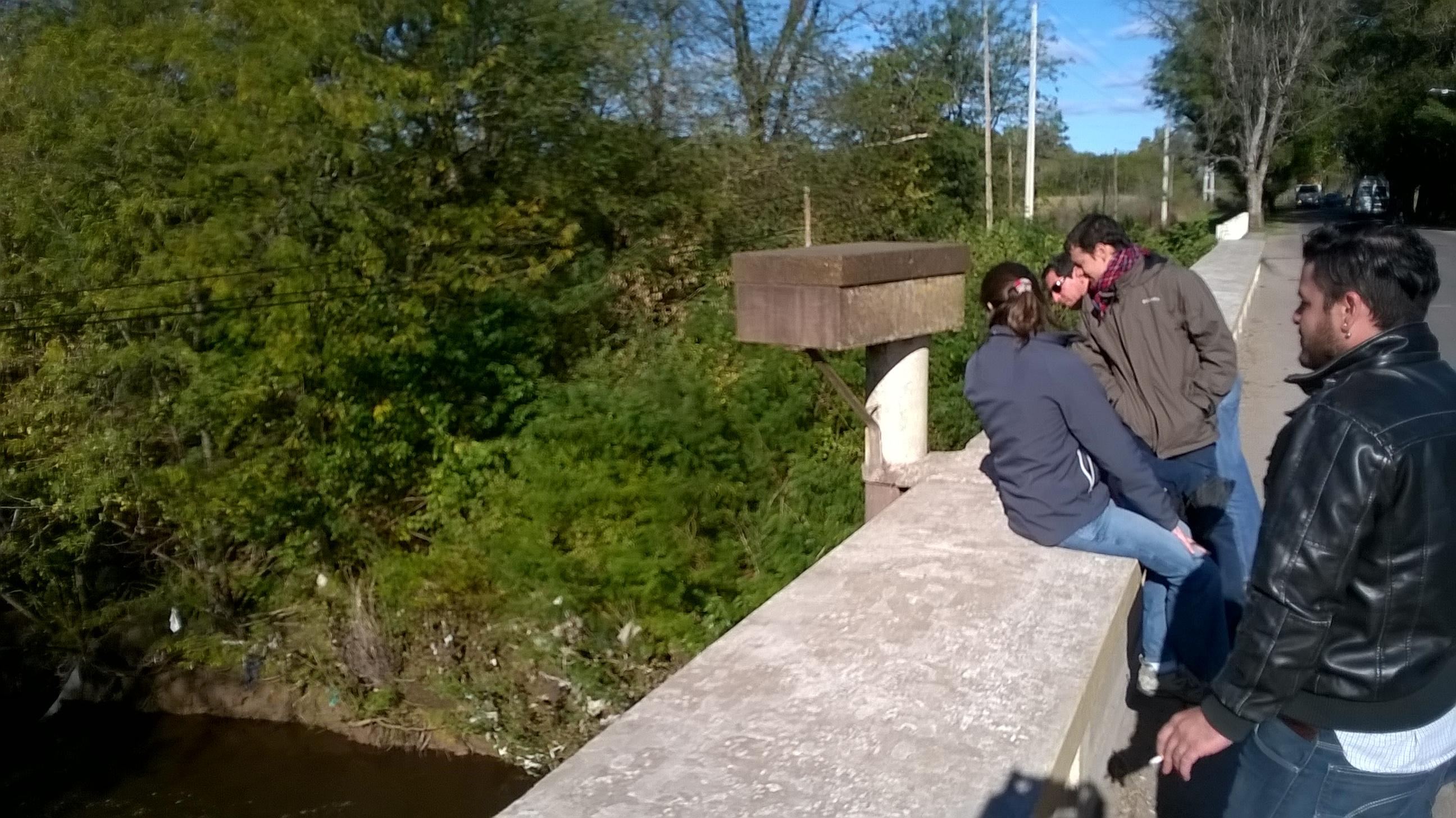 Puente Jauregui. Posible puesto de medición de altura del río Lujan