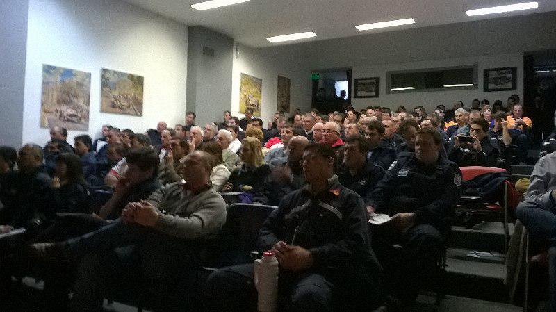Jornada sobre gestión de riesgo junto a bomberos voluntarios de Provincia de Bs As en Balcarce. Provincia de Bs As. 24/8/2015